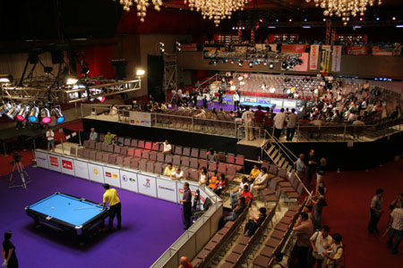 A view from the top - World Pool Championship in PICC
