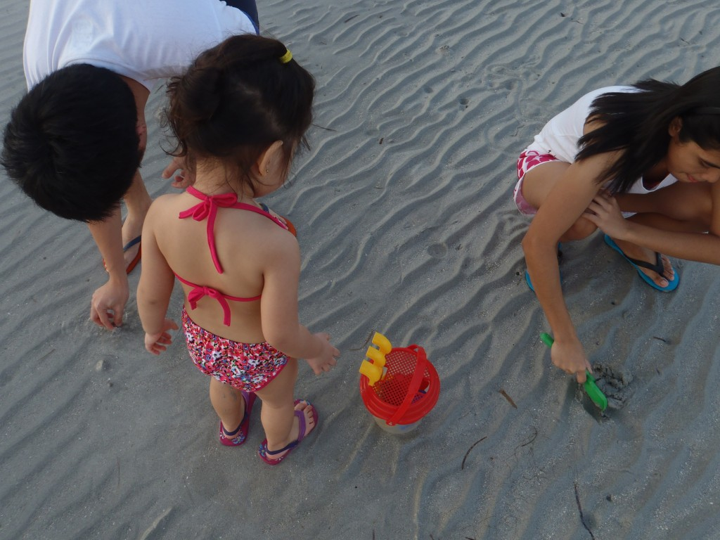 The only use we had for this beach was our sandcastle-building session. Sayang swimsuit ni Baby Bagyo.