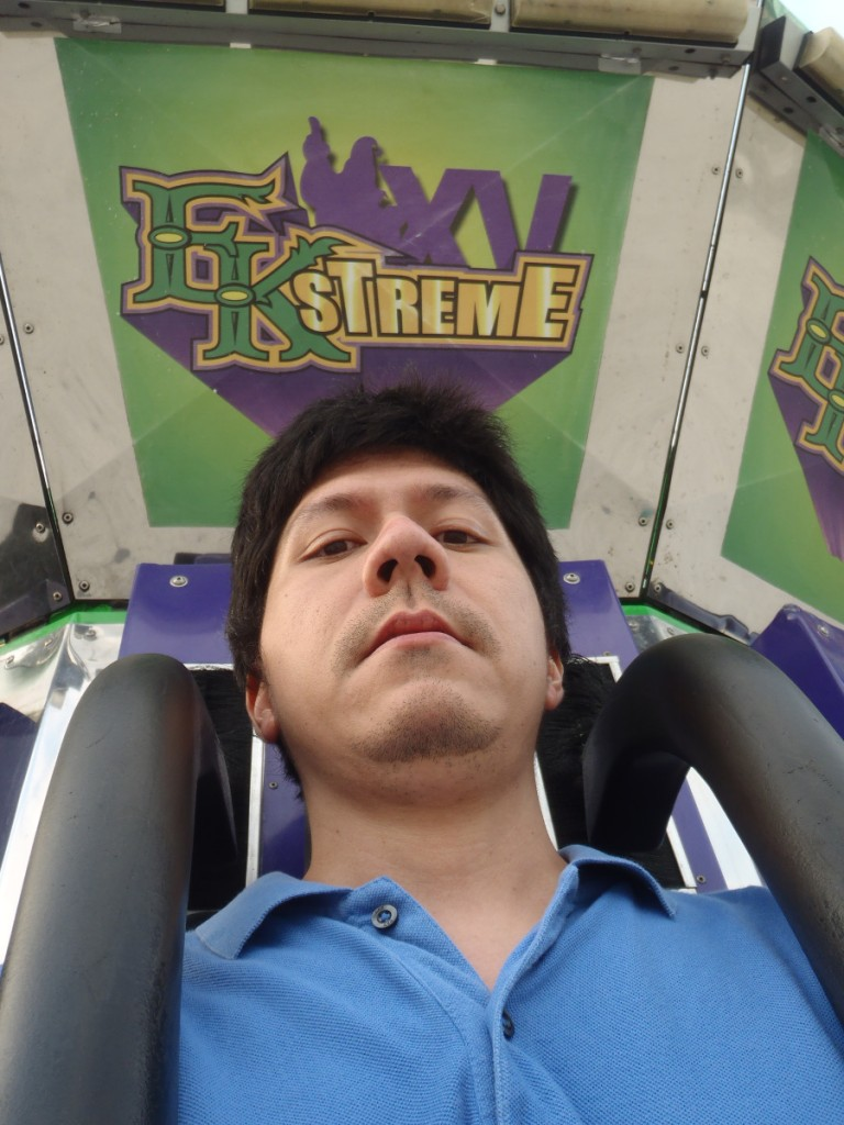 Camera testing. At this time I still thought I could take selfies during the drop—haha, little did I know.