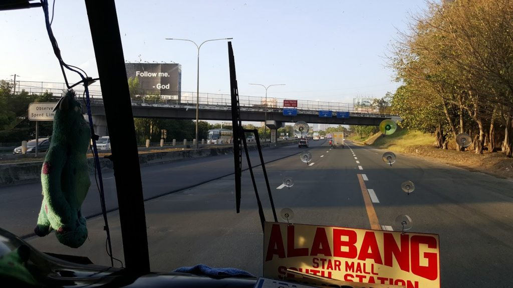 Bus from Alabang