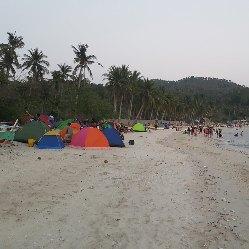 Tents at Masasa Beach